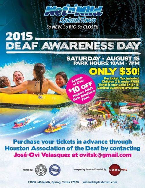 Wet N Wild Deaf Day Houston 2015