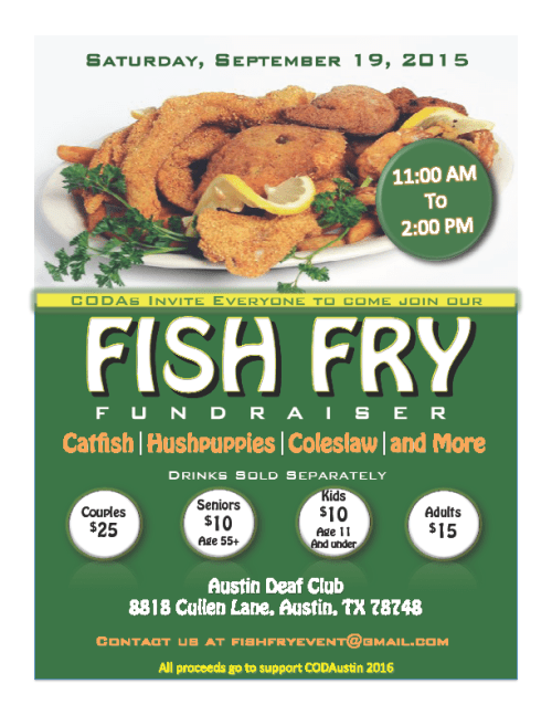 fish fry austin deaf club flyer 2015