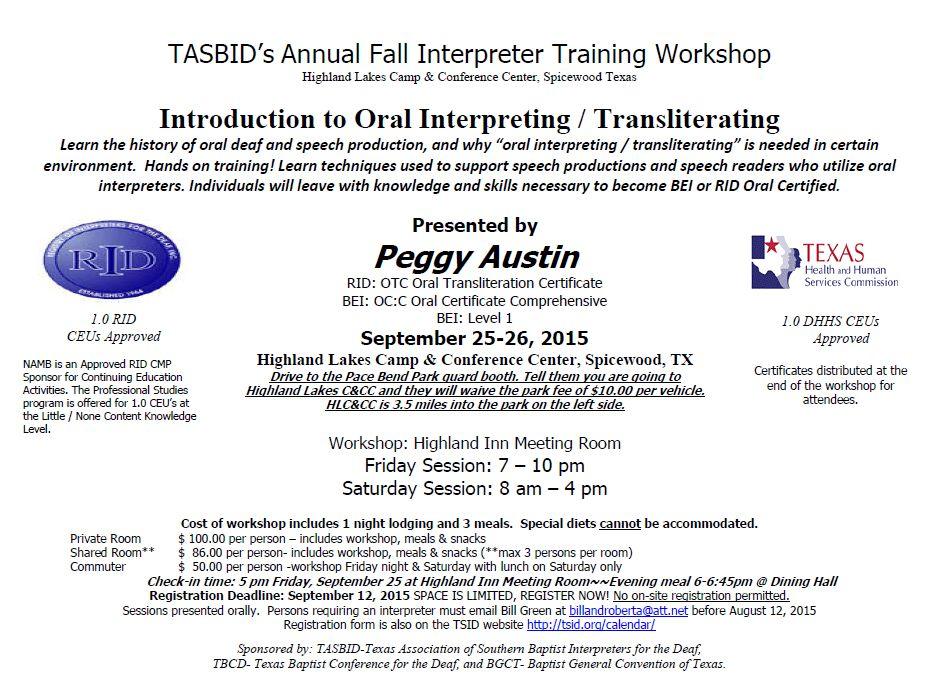 TASBID\'s Annual Fall Interpreter Training Workshop – Deaf Network of ...