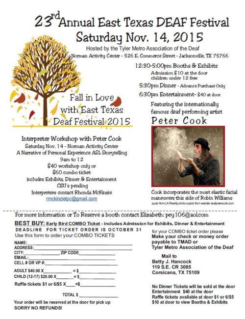 East TX Deaf Festival 2015 November 14