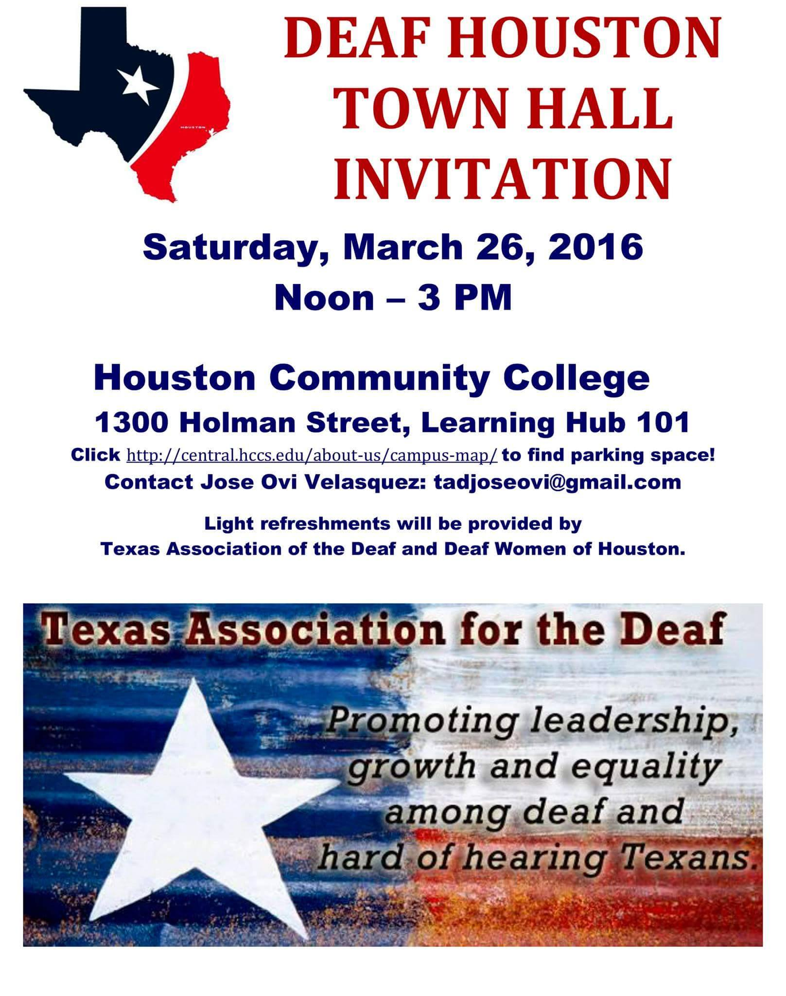 Deaf Houston Town Hall Invitation 3 26 16 Deaf Network Of Texas