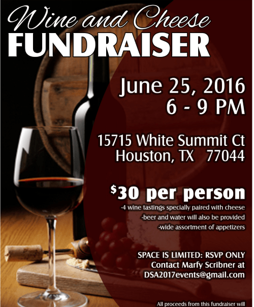 Wine and cheese party flyer