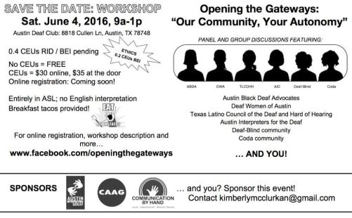 opening the gateways workshop austin
