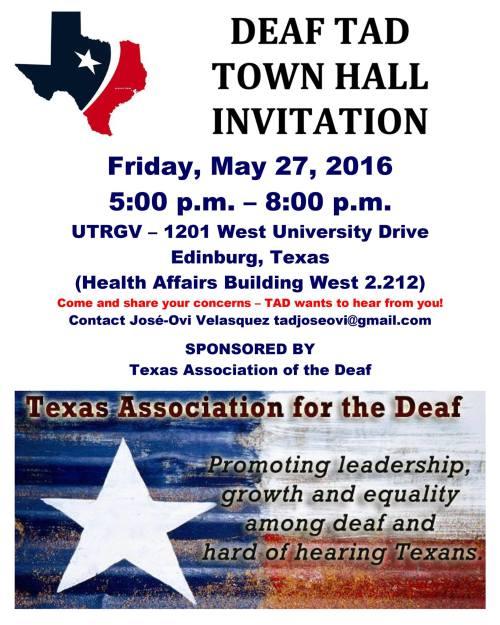 tad town hall edinburg texas may 27 2016 flyer
