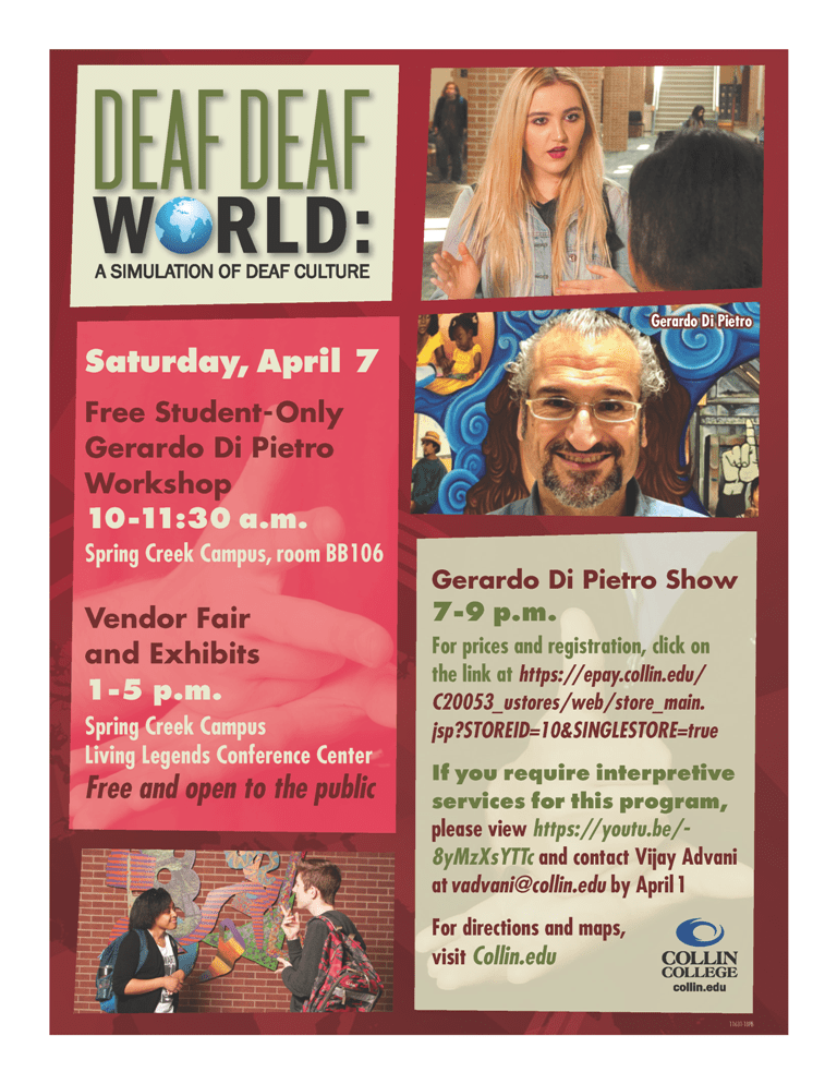 Reminder Deaf Deaf World Gerardo Di Pietro Show 4 7 18 Dfw
