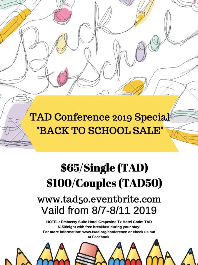 TAD Conference – Back to School Sale Deal – Deaf Network of Texas