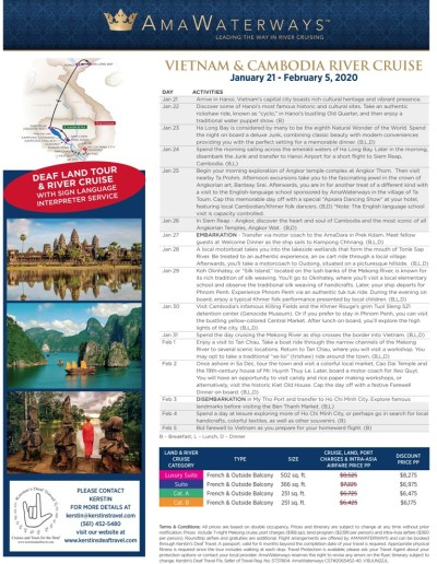 Vietnam & Cambodia January 21 - February 5, 2020 Click image to view big picture