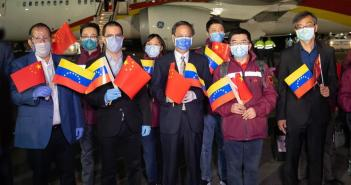 Expertos chinos llegan a Venezuela para combatir coronavirus