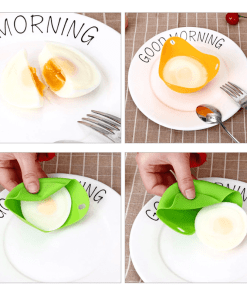 SILICONE EGG POACHER [Set of 4]