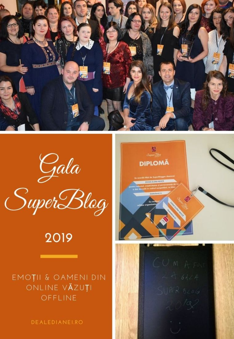 Gala SuperBlog 2019: emoții & oameni din online văzuți offline