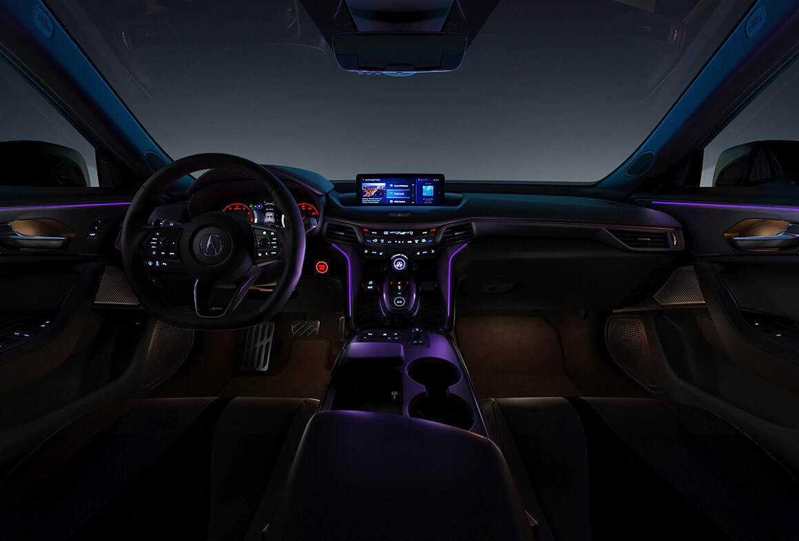 2021 acura tlx ambient lighting in