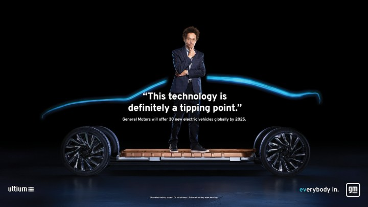 """Influencers who defy expectations and represent all walks of life will be used throughout GM's """"Everybody In"""" campaign, including author Malcolm Gladwell."""