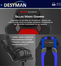 sillas gaming en dealermarket