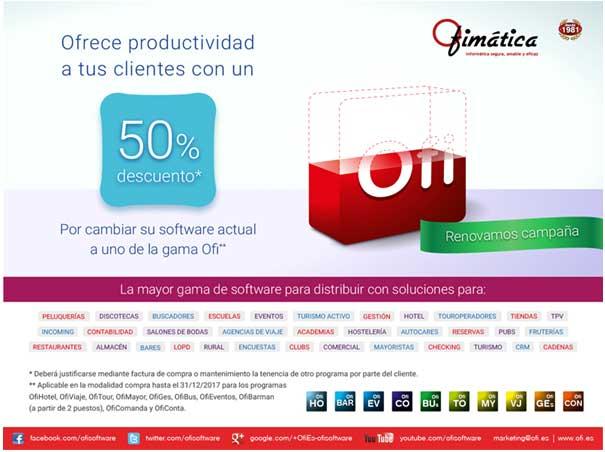 Promo Ofimatica cambio de software