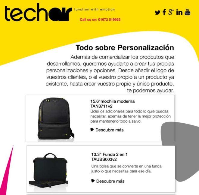 personalizacion con techair