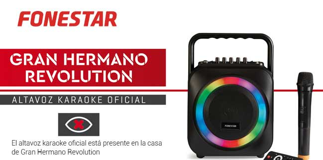 Altavoz portátil fonestar box-35LED bluetooth karaoke USB sd microfono inalambrico