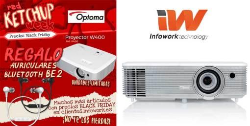 Black  Friday Optoma con el proyector W400