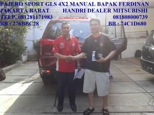 PAJERO SPORT GLS 4X2 MANUAL MERAH BAPAK FERDINAN JAKARTA BARAT