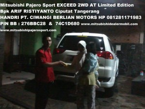Pajero Sport EXCEED 2WD AT Limited Edition Ibu Ade Irma Novianti QQ Bpk ARIF RISTIYANTO Ciputat Tangerang