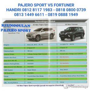 pajero sport vs fortuner