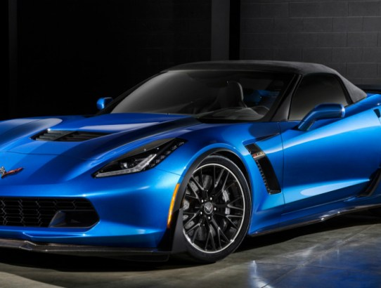 Blue Chevrolet Corvette Z06