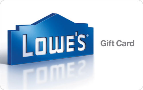 $100 Lowes Gift Card for $90!