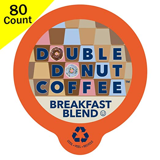 Double Donut Breakfast Blend Coffee, 80 Pack only $18.46! (was $24.99)