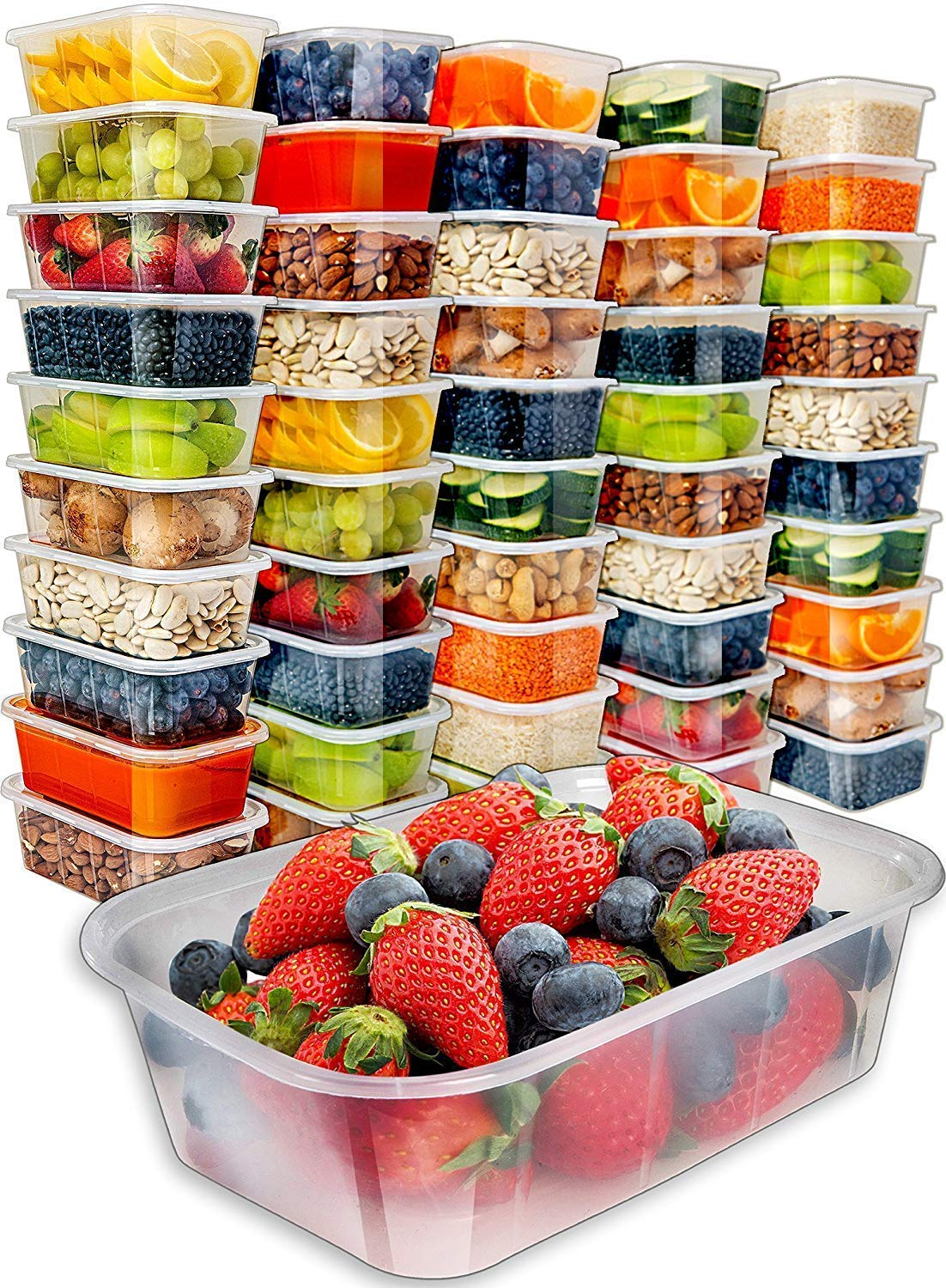 50 Food Storage Containers with Lids only $14.24!