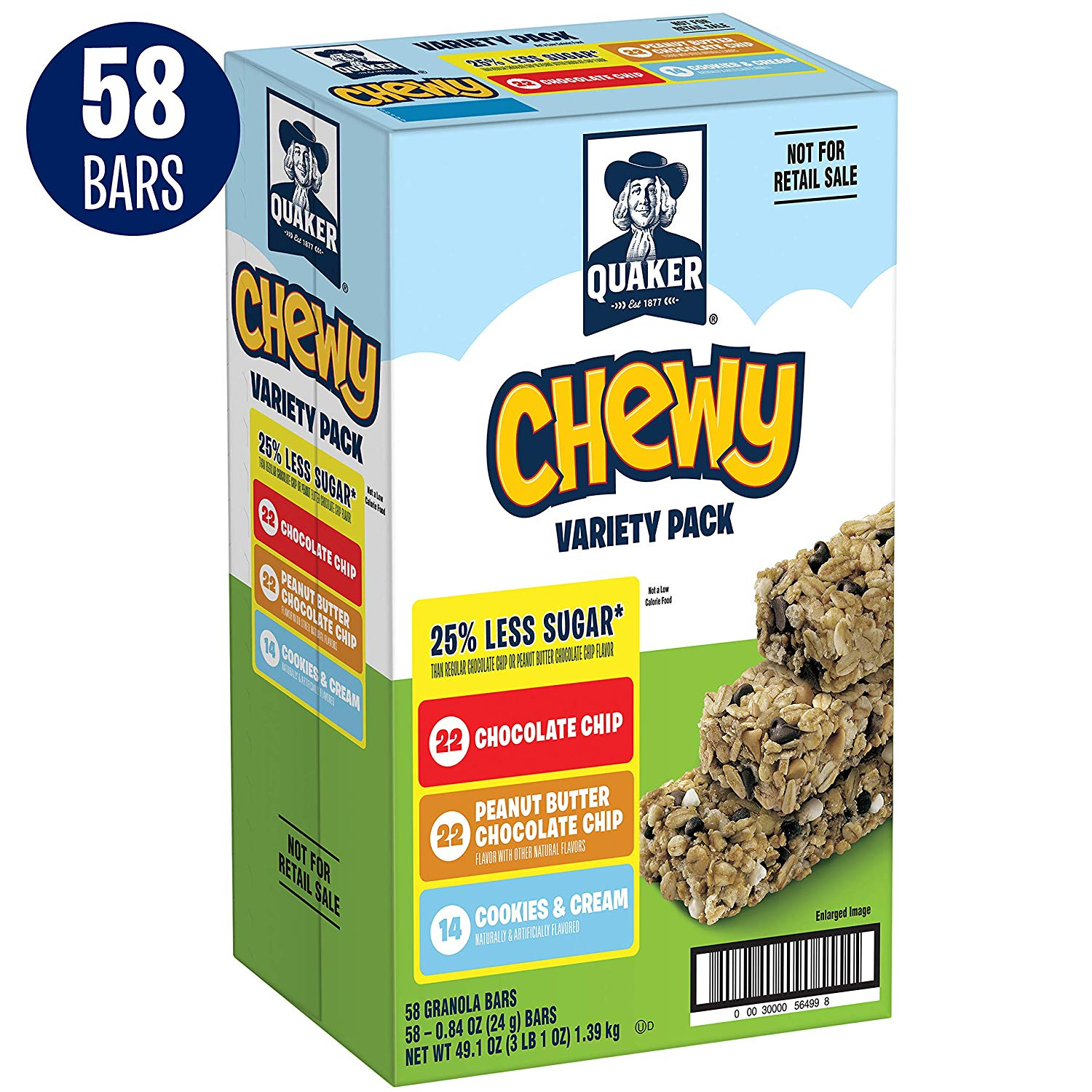 58 Quaker Chewy Granola Bars only $6.90 with coupon! (was $9.86)