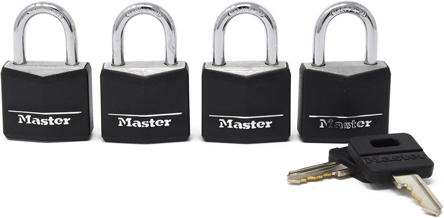 Master Lock 131Q Padlock with Key, 4 Pack only $6.38! (was $12.90)