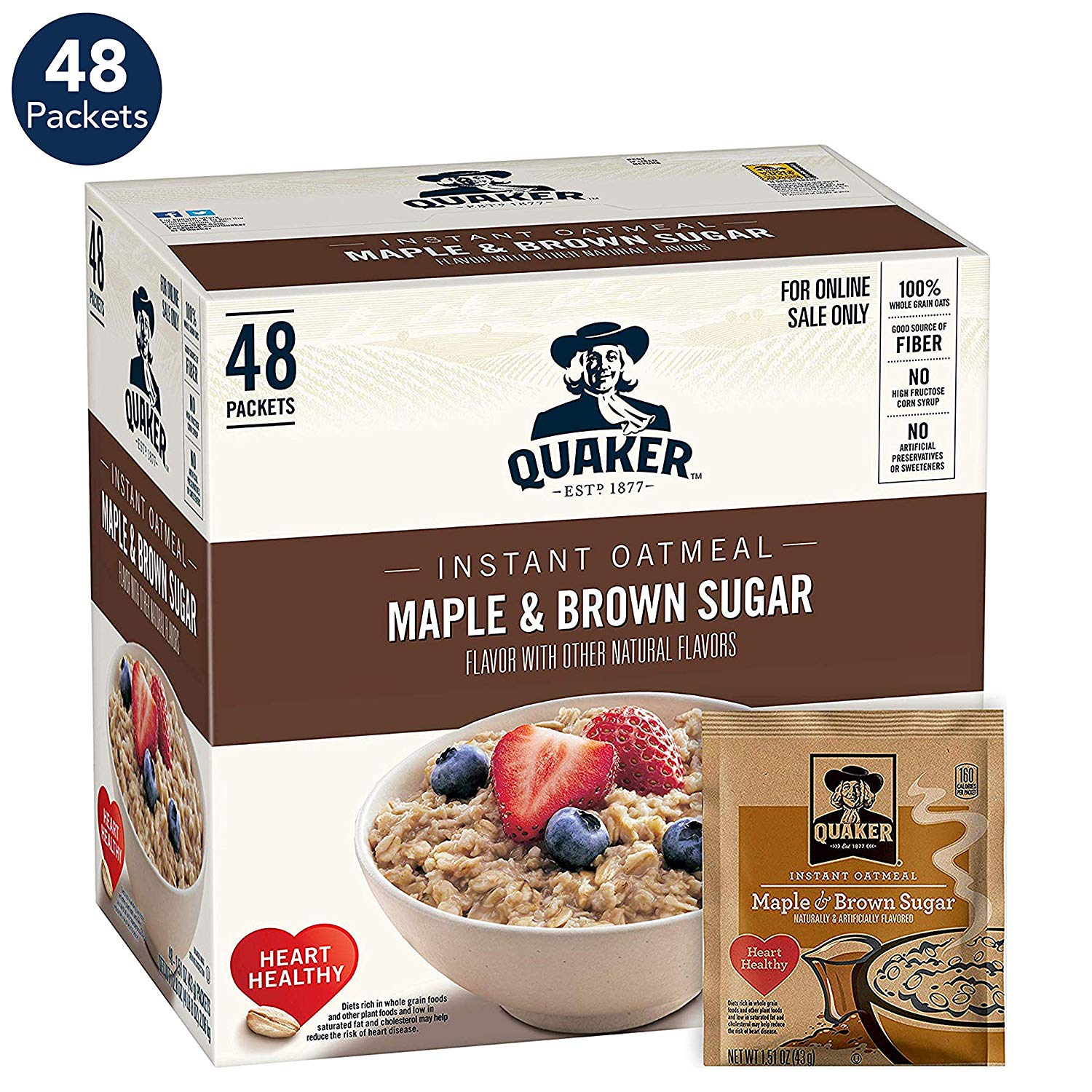 48 count Quaker Instant Oatmeal, Maple & Brown Sugar only $6.03 with coupon!
