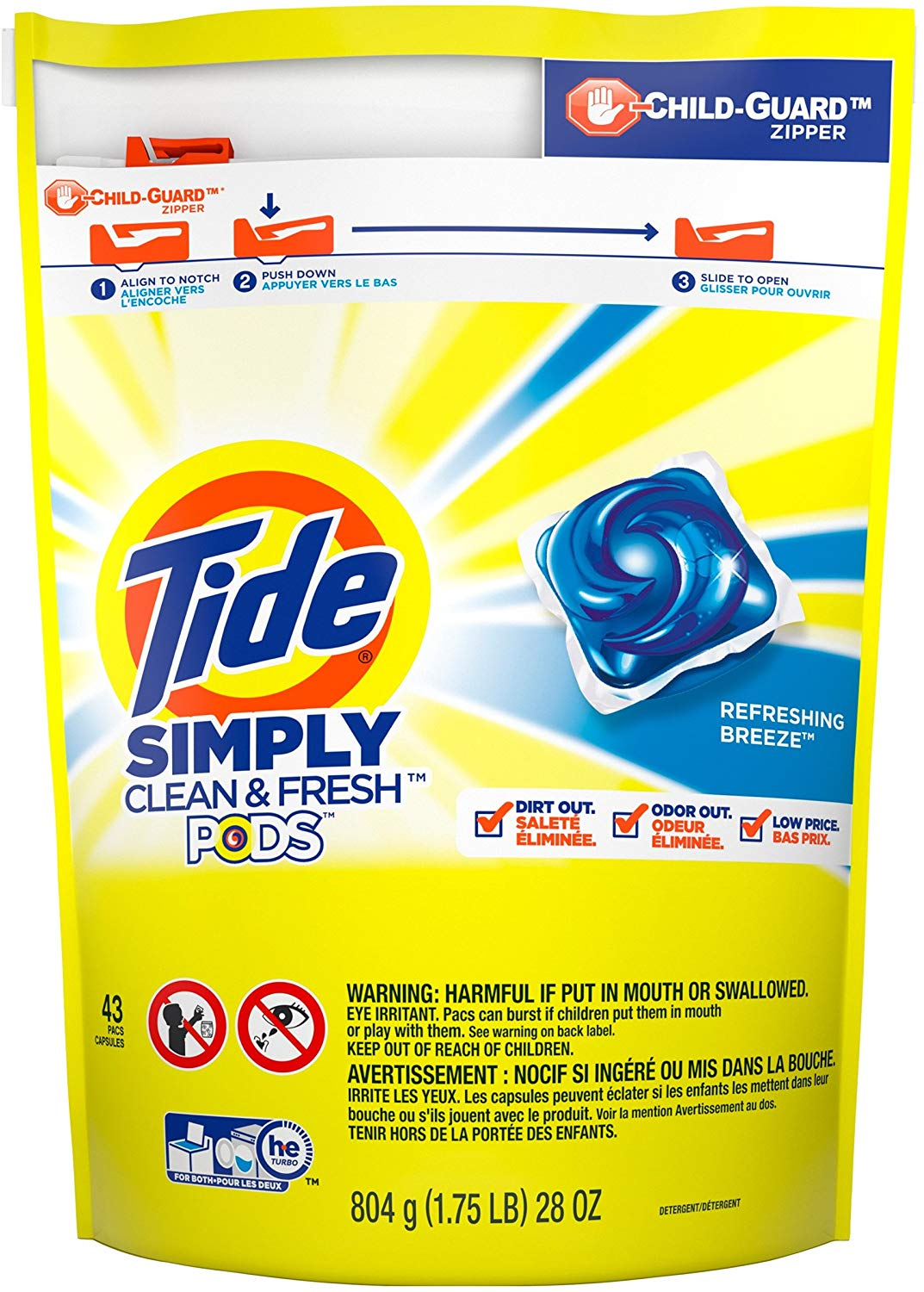 Tide Simply Clean & Fresh PODS Liquid Detergent Pacs, 43 Count only $5.04! (was $8.94)