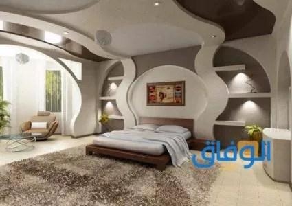 أحدث تصميمات أسقف من الجبس لغرف النوم