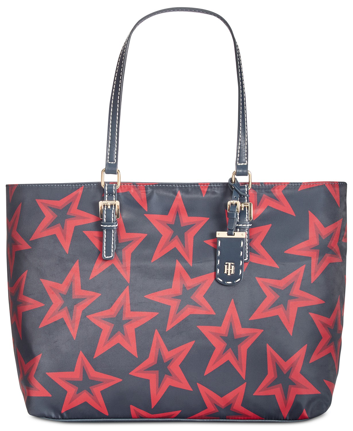 4524637b412613 MAcy's: Tommy Hilfiger Julia Smooth Star-Print Tote for $27.96 (Was $125) +  store pickup.