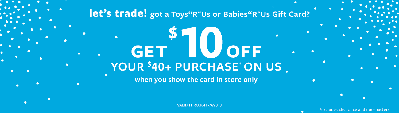 carters get 10 off on 40 purchase when you show toys r us or babies r us giftcard - Babies R Us Egift Card
