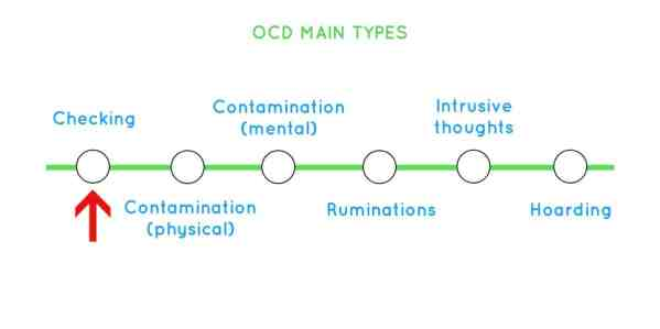 The five categories of OCD, 'Checking' being highlighted.