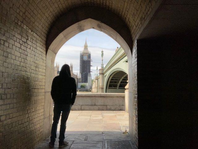 Me standing looking over to Big Ben