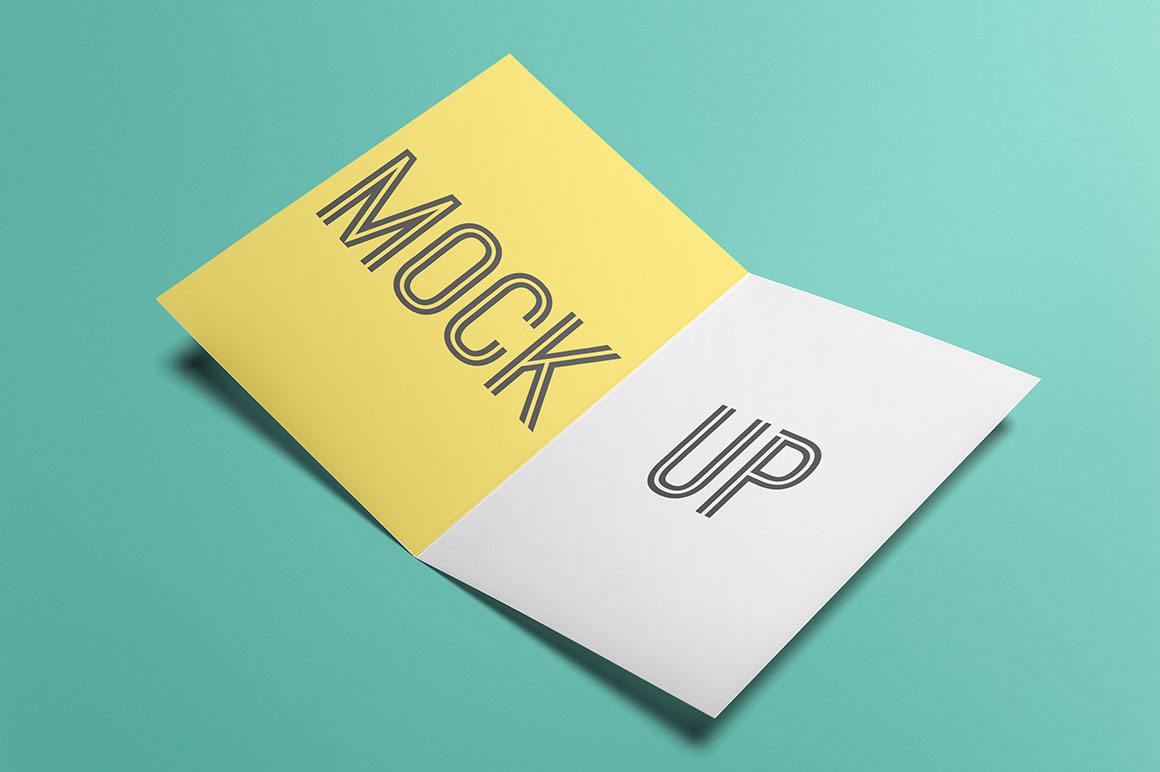 Free Card Or Flyer Mock Up Discounted Design Bundles With Extended License