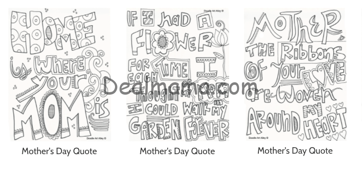 Free Printable Mother S Day Coloring Pages Extreme Couponing Deals