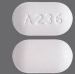 Butal/APAP/Caf 50-325-40mg Tab Able Laboratories Inc Pill Identification: A 236