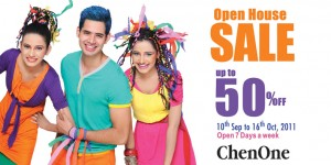 Chen One Open House Sale Upto 50% off.