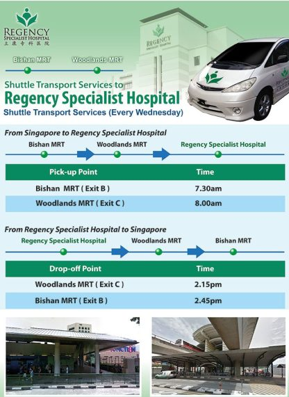 Singapore to Regency Hospital Jebhealth