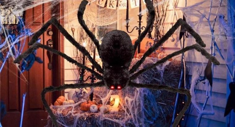 Black Spider Halloween Decoration Haunted House Prop Indoor Outdoor Wide