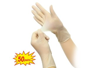 Disposable latex nitrile gloves