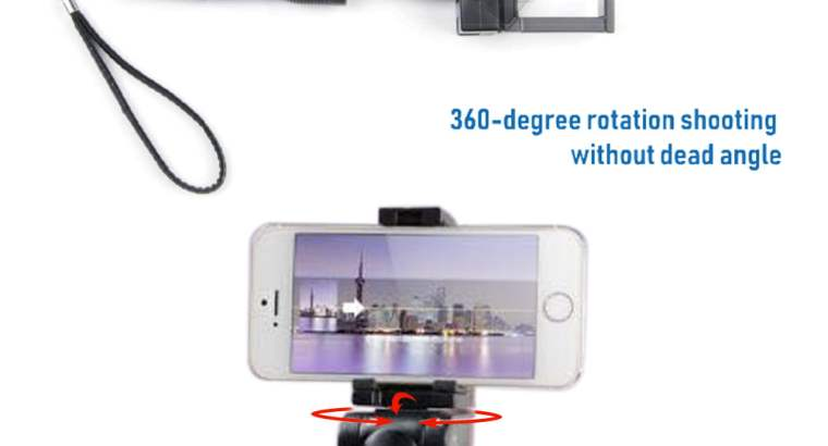 360° rotation Bluetooth Motorized Selfie Stick