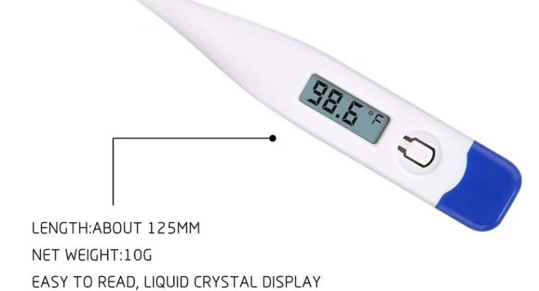 Digital Thermometer LCD Screen FDA 510K ROHS