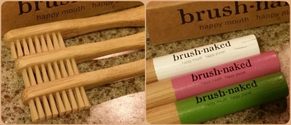 Close up of Brush Naked Bamboo Toothbrushes