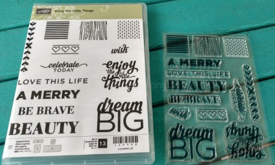 Enjoy the Little Things Stamp Set
