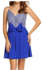 ANGVNS Women Sexy Spaghetti Strap Plaid Pleated High Waist Slim Mini Cocktail BLUE - Copy
