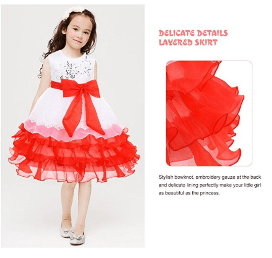 Deals finders princess sleeveless flower embroidered tulle lace princess dress flower girl dress tulle lace dress sleeveless 4 mightylinksfo